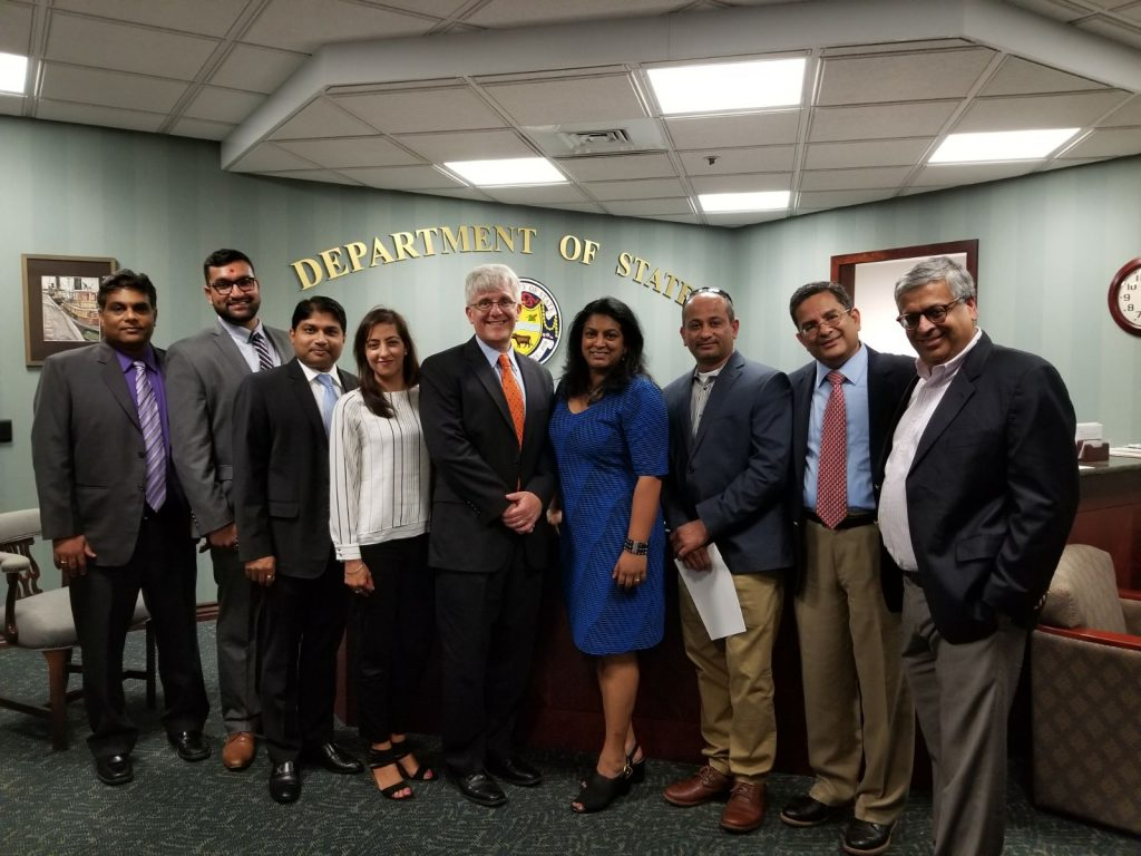 Picture of the the Delaware Commission on Indian Heritage and Culture's commissioners